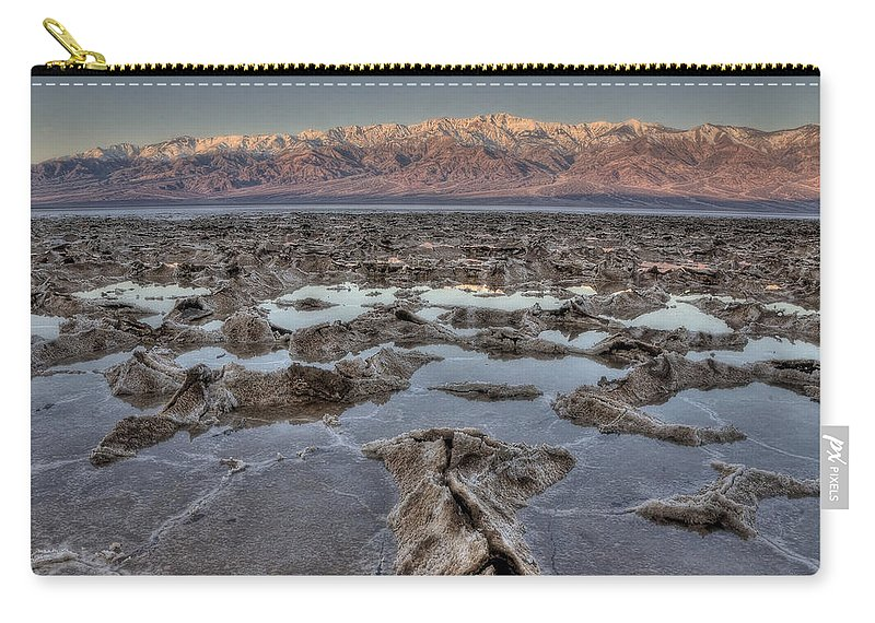 Adventure Carry-all Pouch featuring the photograph Death Valley 7 by Ingrid Smith-Johnsen