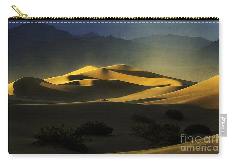 Death Valley Carry-all Pouch featuring the photograph Death Valley California Symphony Of Light 4 by Bob Christopher