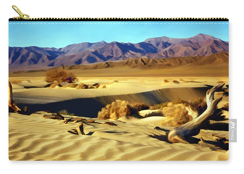 Death Valley Carry-all Pouch featuring the photograph Death Valley by Kurt Van Wagner