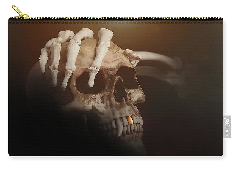 Halloween Carry-all Pouch featuring the photograph Death's Head by Tom Mc Nemar