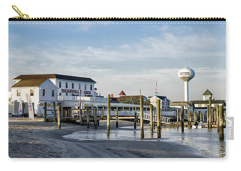 46f9070cc Deauville Carry-all Pouch featuring the photograph Deauville Inn - Strathmere  New Jersey by Bill