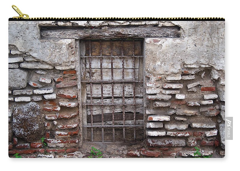 Decaying Carry-all Pouch featuring the photograph Decaying Wall And Window Antigua Guatemala 2 by Douglas Barnett