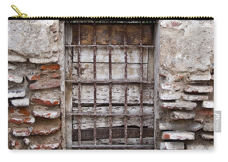 Decaying Carry-all Pouch featuring the photograph Decaying Wall And Window Antigua Guatemala 3 by Douglas Barnett