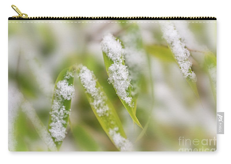 Snow Carry-all Pouch featuring the photograph December by Delphimages Photo Creations