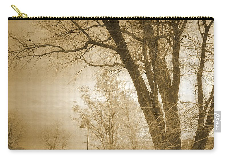 Trees Carry-all Pouch featuring the photograph December Glow by Tara Turner