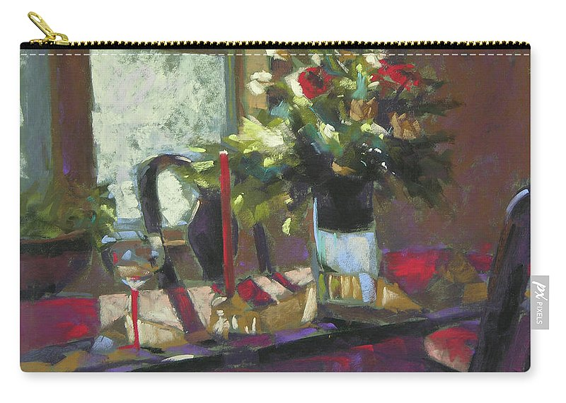 Christmas Carry-all Pouch featuring the painting December Morning Light by Mary McInnis