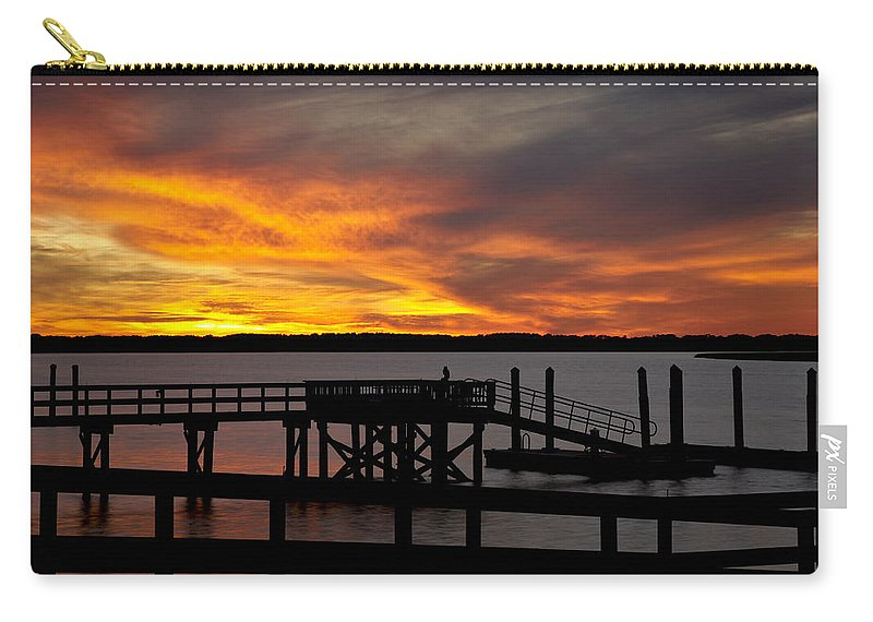 Sunset Carry-all Pouch featuring the photograph December Sunset by Phill Doherty
