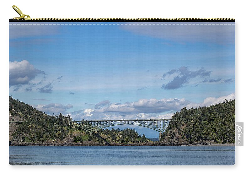 Bridge Carry-all Pouch featuring the photograph Deception Pass Bridge by Ashlyn Gehrett