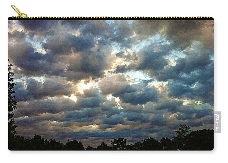 Clouds Carry-all Pouch featuring the photograph Deceptive Clouds by Cricket Hackmann