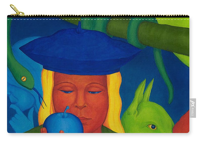 Surreal Carry-all Pouch featuring the painting Decision. by Andrzej Pietal