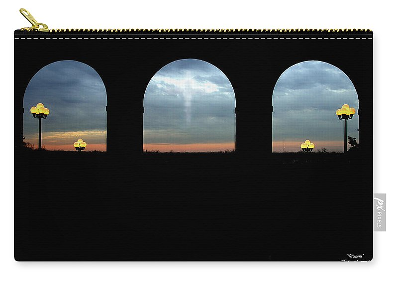 Arch Carry-all Pouch featuring the photograph Decisions by Albert Stewart