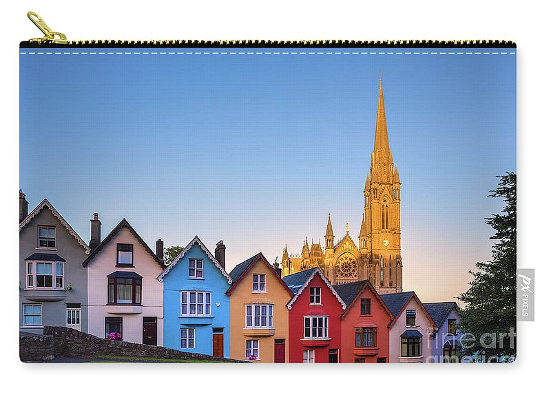 Ireland Carry-all Pouch featuring the photograph Deck Of Cards And St Colman's Cathedral, Cobh, Ireland by Henk Meijer Photography