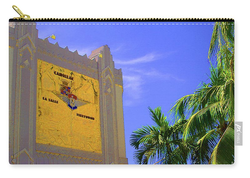 Cadillac Carry-all Pouch featuring the photograph Deco Cadillac by Jost Houk