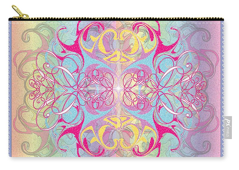 Color Carry-all Pouch featuring the digital art Decorative 11 by George Pasini
