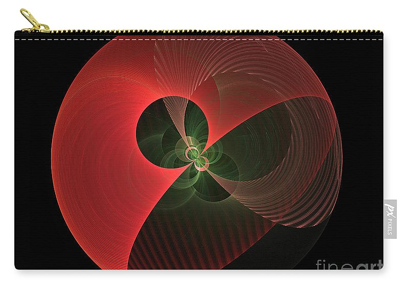 Globe Carry-all Pouch featuring the digital art Decorative Globe Of Red by Deborah Benoit