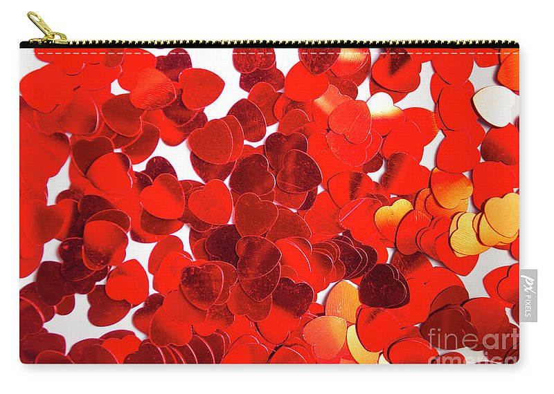 Confetti Carry-all Pouch featuring the photograph Decorative Heart Background by Jorgo Photography - Wall Art Gallery