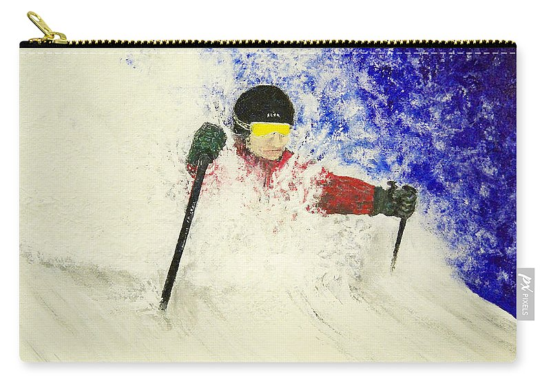 Utah Carry-all Pouch featuring the painting Deeeep by Michael Cuozzo