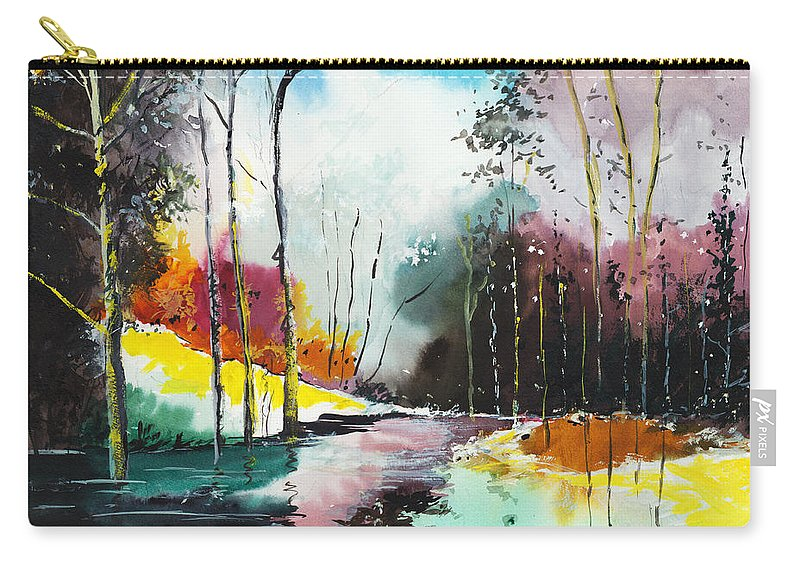 Nature Carry-all Pouch featuring the painting Deep 5 by Anil Nene