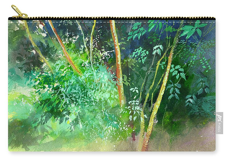 Water Color Carry-all Pouch featuring the painting Deep by Anil Nene