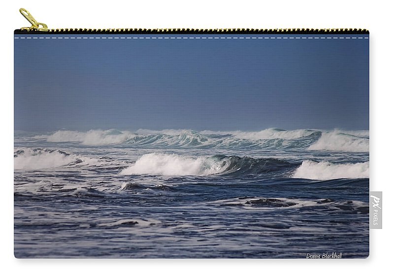 Ocean Carry-all Pouch featuring the photograph Deep Blue Sea by Donna Blackhall
