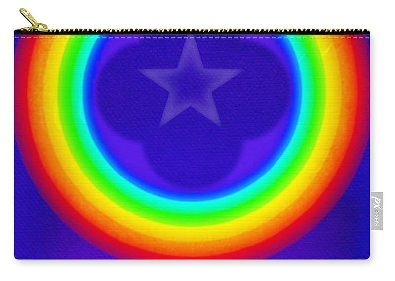 Abstract Carry-all Pouch featuring the painting Deep Blue See by Charles Stuart