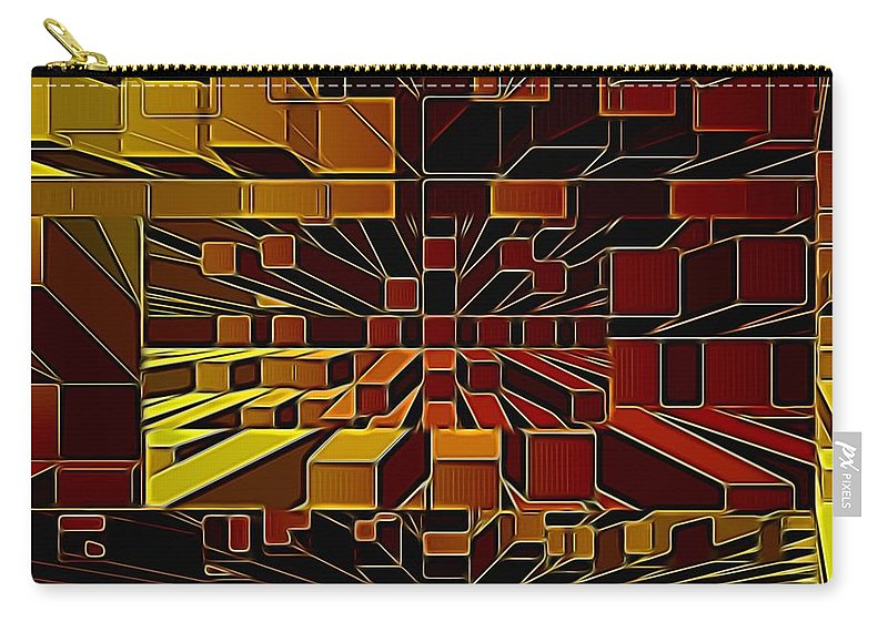 Result Of Playing On Photoshop Carry-all Pouch featuring the digital art Deep Brown by John Summers