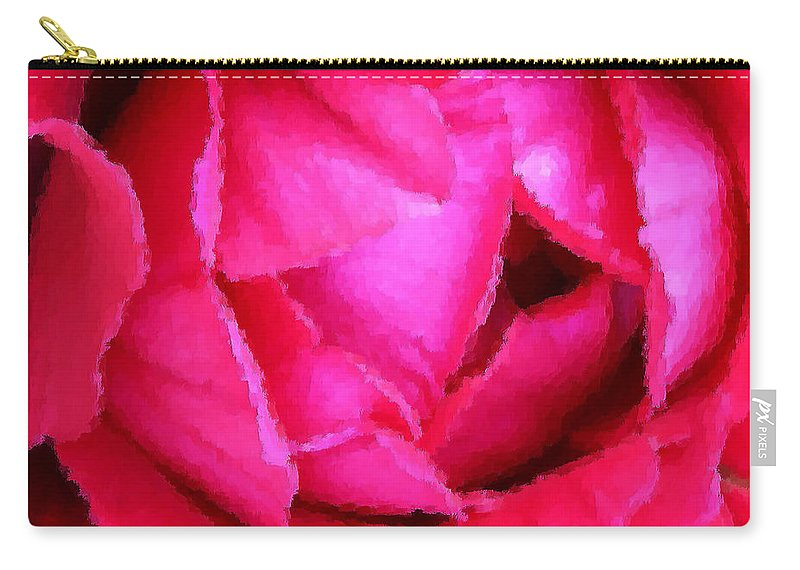 Rose Carry-all Pouch featuring the photograph Deep Inside The Rose by Kristin Elmquist