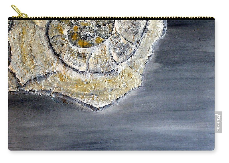 Still Life Paintings Carry-all Pouch featuring the painting Deep Ocean Seashell by Leslye Miller