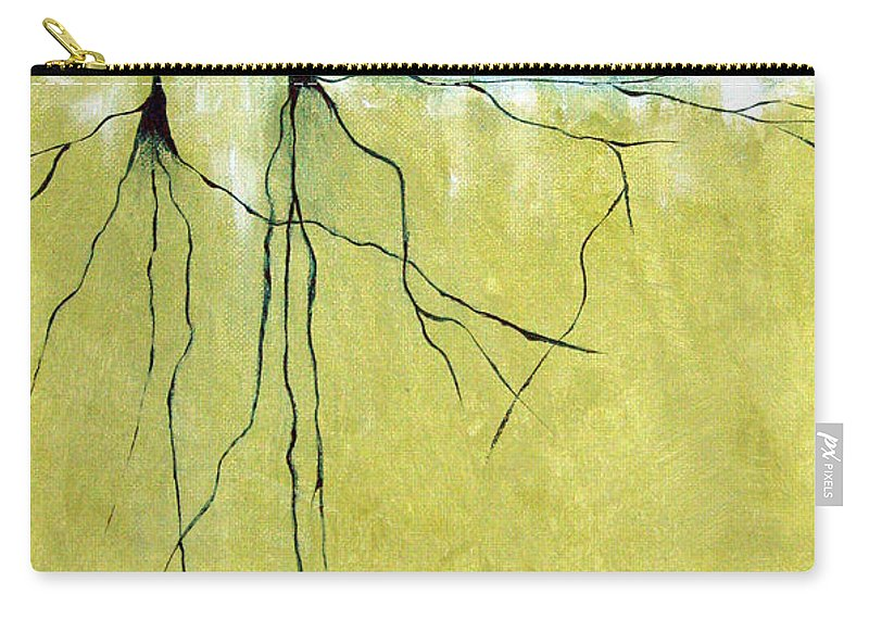 Abstract Carry-all Pouch featuring the painting Deep Roots by Ruth Palmer