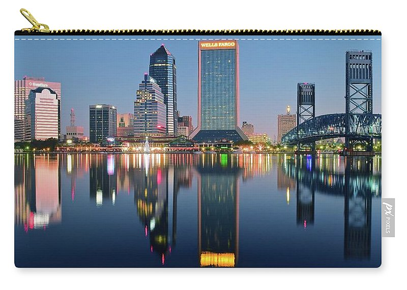 Jacksonville Carry-all Pouch featuring the photograph Deep Sea Blue by Frozen in Time Fine Art Photography
