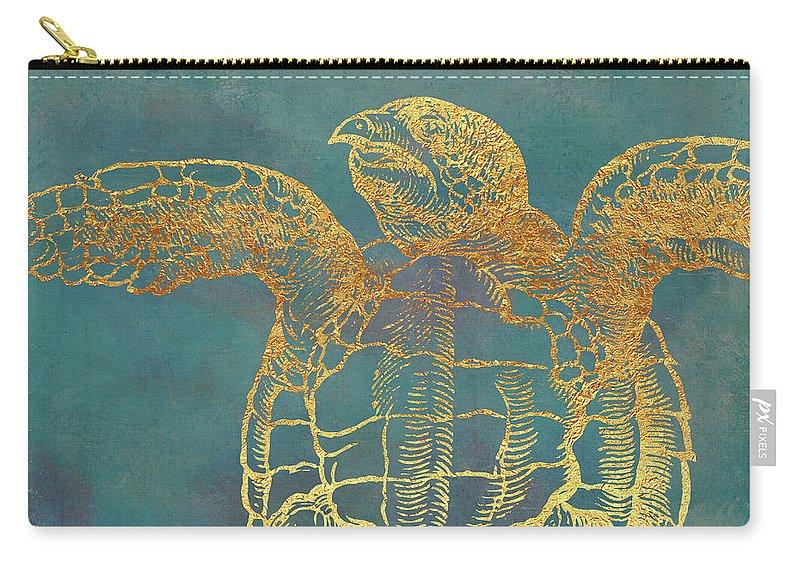 de82610dc2ac Deep Sea Life IIi Golden Sea Turtle, Ocean Texture Carry-all Pouch