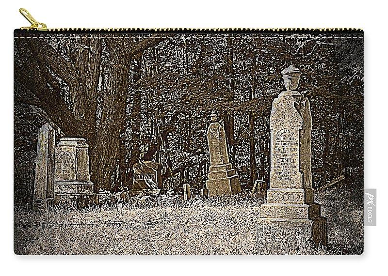 Graveyard Carry-all Pouch featuring the photograph Deep Sleep by Scott Ward