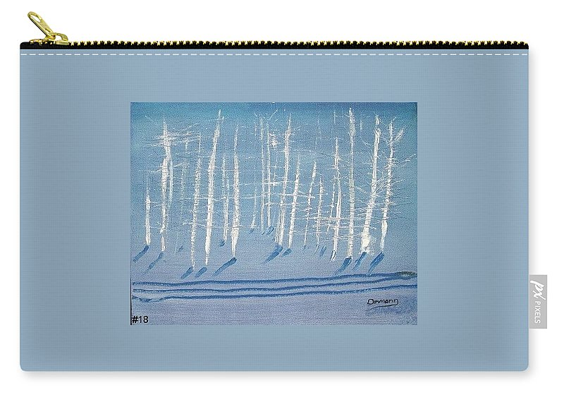 White Carry-all Pouch featuring the painting Deep Winter by Jack Diamond