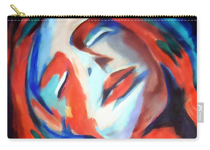 Affordable Original Paintings Carry-all Pouch featuring the painting Deepest Fullness by Helena Wierzbicki