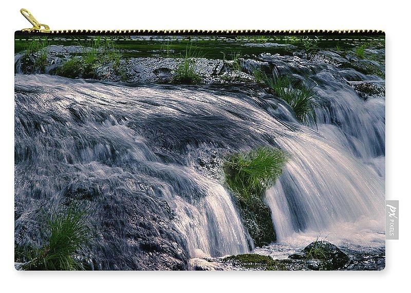 Creek Carry-all Pouch featuring the photograph Deer Creek 01 by Peter Piatt