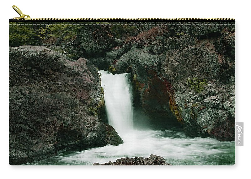 Creek Carry-all Pouch featuring the photograph Deer Creek Falls by Peter Piatt