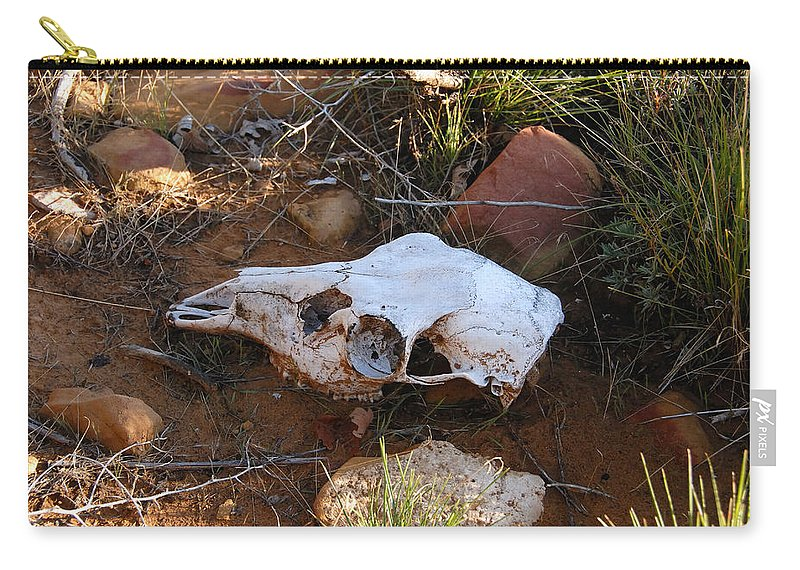 Skull Carry-all Pouch featuring the photograph Deer Spirit Mesa by David Lee Thompson