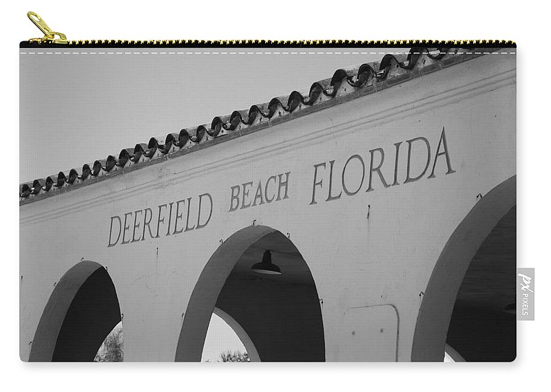 Black And White Carry-all Pouch featuring the photograph Deerfield Beach Florida by Rob Hans