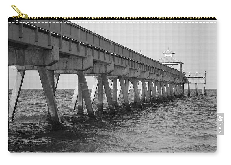 Architecture Carry-all Pouch featuring the photograph Deerfield Beach Pier by Rob Hans