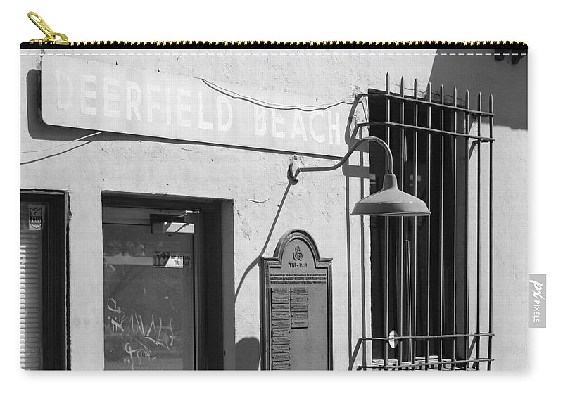 Train Station Carry-all Pouch featuring the photograph Deerfield Beach Train Station by Rob Hans