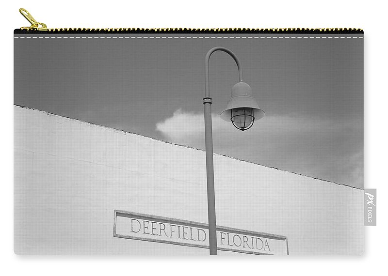 Black And White Carry-all Pouch featuring the photograph Deerfield Florida by Rob Hans