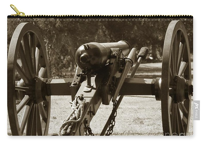 Cannon Carry-all Pouch featuring the photograph Defense by Charleen Treasures