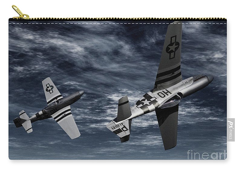 Aircombat Carry-all Pouch featuring the digital art Defensive Split by Richard Rizzo
