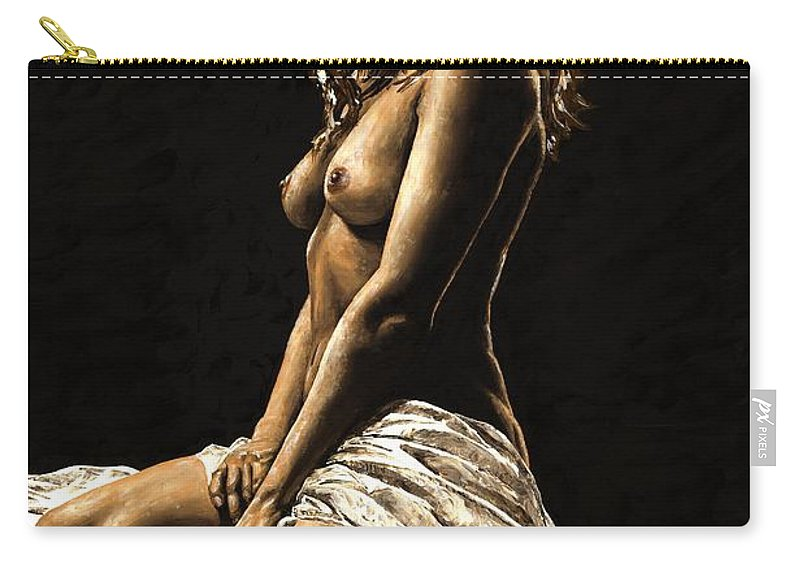 Nude Carry-all Pouch featuring the painting Defiance by Richard Young