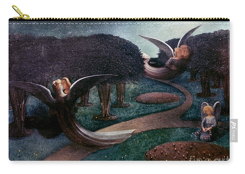 1894 Carry-all Pouch featuring the photograph Degouve: Angels, 1894 by Granger