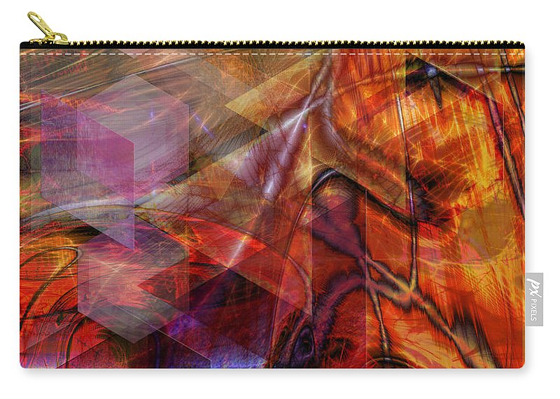 Deguello Sunrise Carry-all Pouch featuring the digital art Deguello Sunrise by John Beck