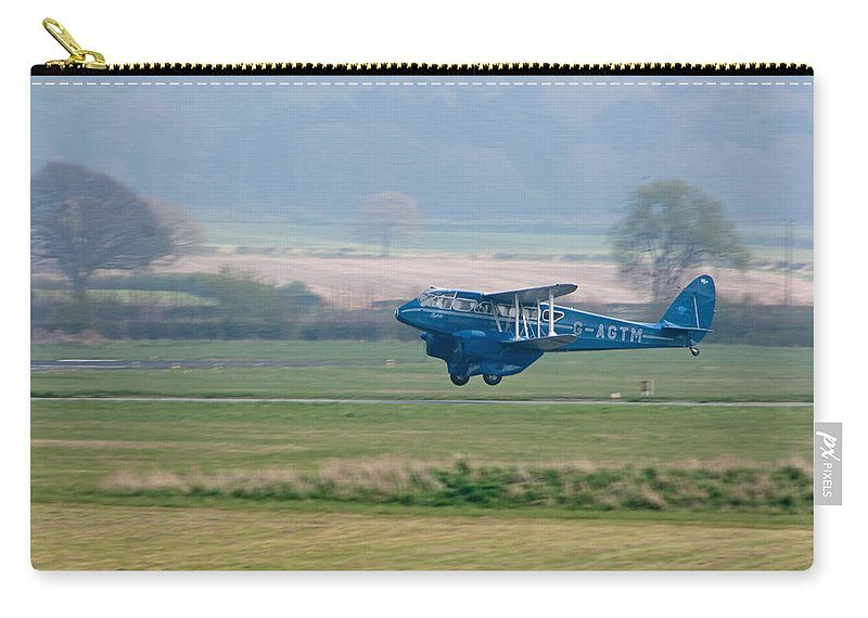 Airplane Carry-all Pouch featuring the photograph Dehavilland Dragon Rapide by Bob Kemp