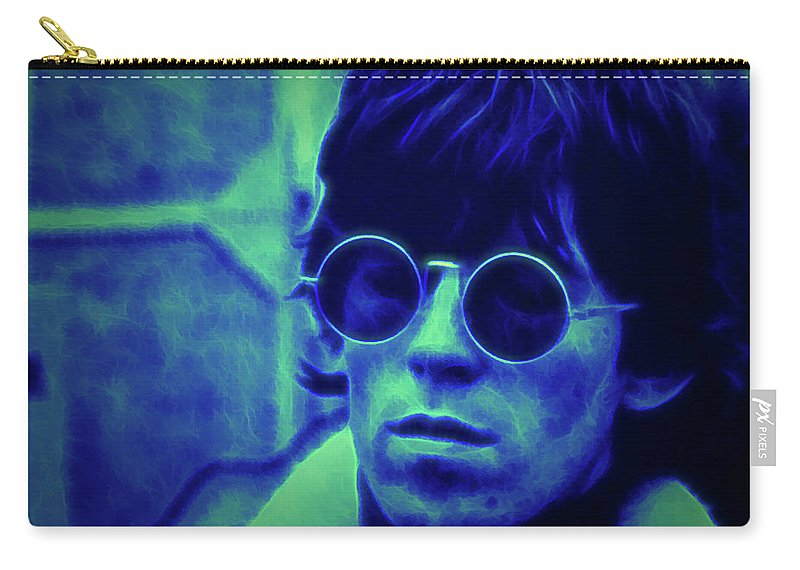 Rolling Stones Carry-all Pouch featuring the photograph Deja Blue Rolling Stones Bill Wyman by Don Columbus