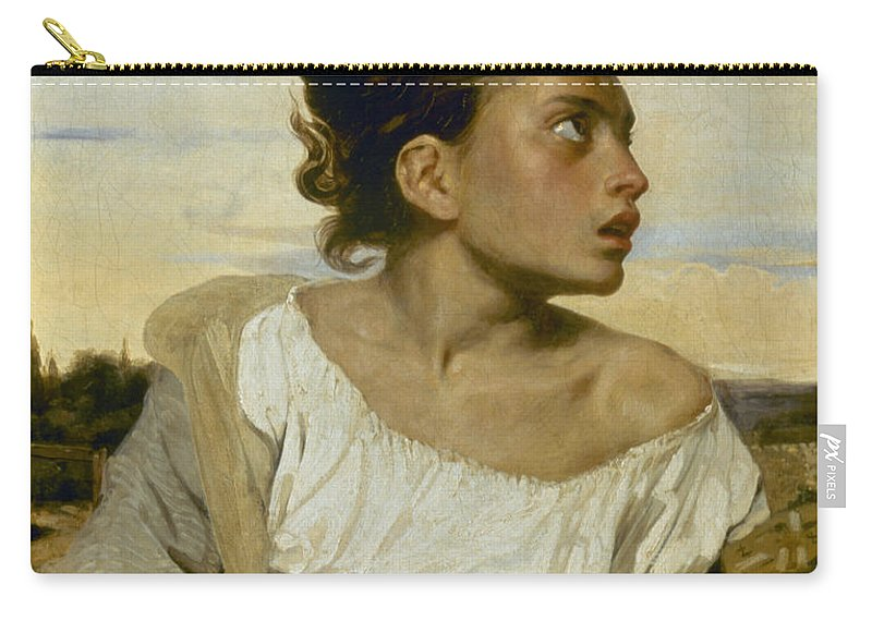 1824 Carry-all Pouch featuring the photograph Delacroix: Orphan, 1824 by Granger