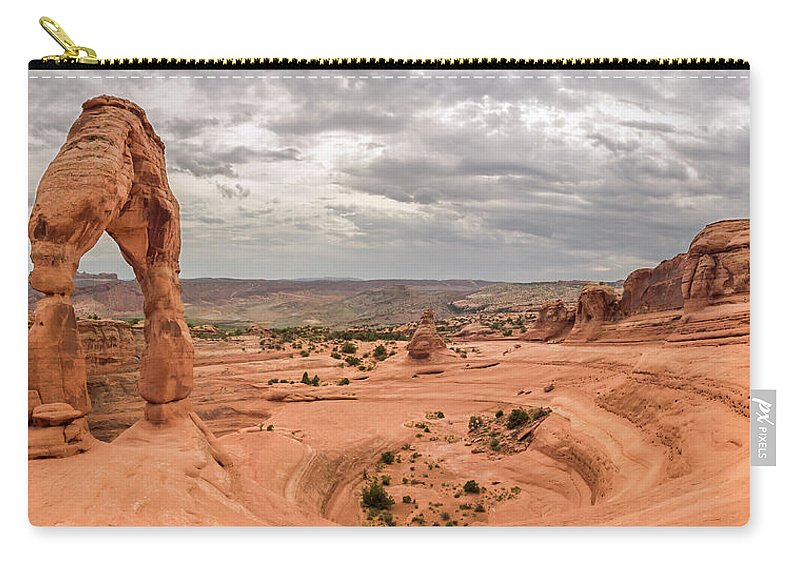 3scape Carry-all Pouch featuring the photograph Delicate Arch Panoramic by Adam Romanowicz